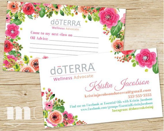 Doterra Business Card Essential Oils Small Business Floral Design