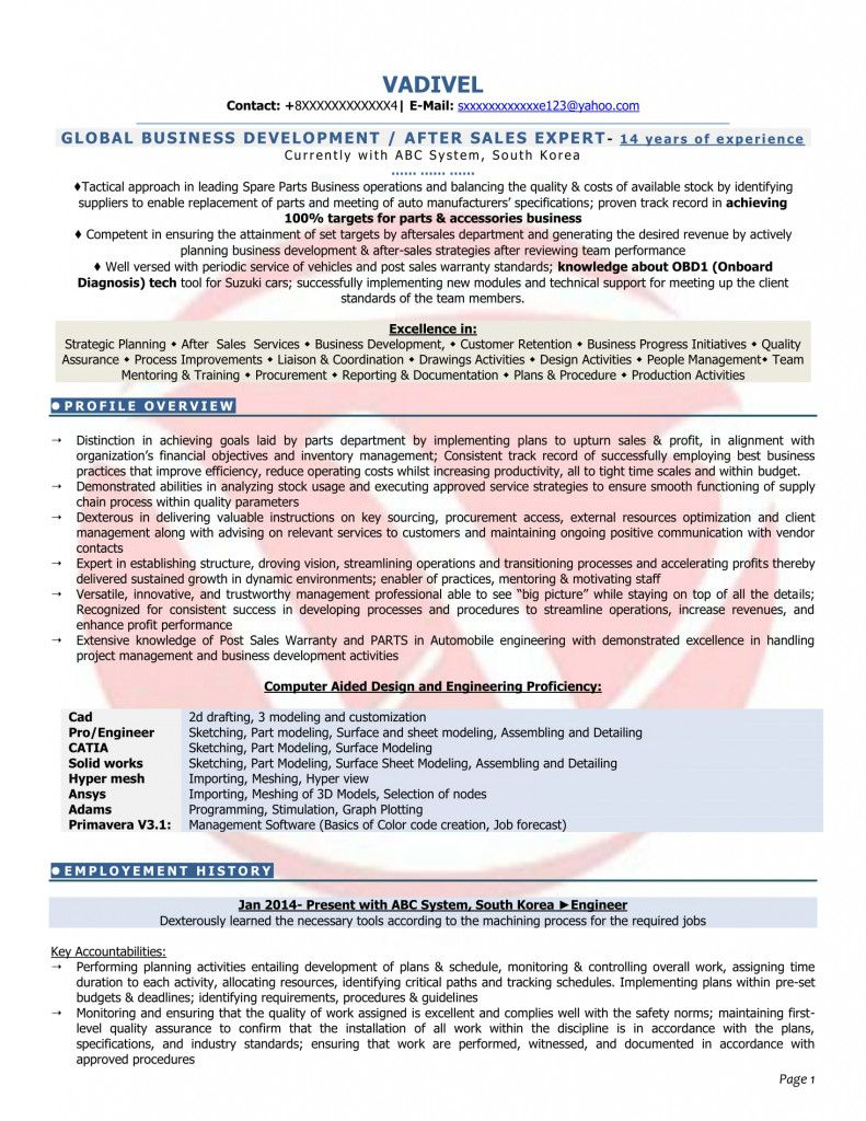 Resume Format For Zoho 2021 Resume Format Resume Download Resume