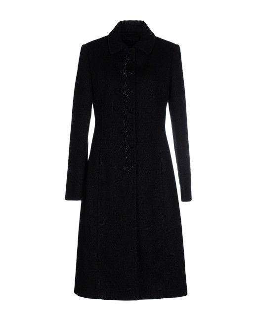 a58734f5b7aa Twin Set   Black Coat   Lyst   Closet   Coat, Black, Dresses for work
