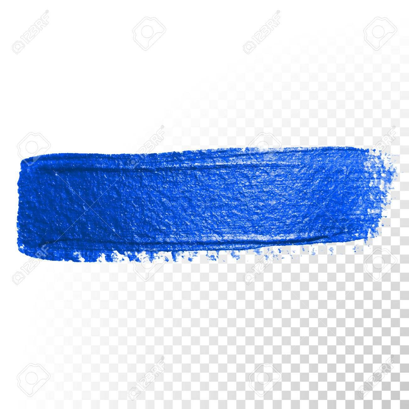 Deep Blue Watercolor Brush Stroke Abstract Shape Vector Oil