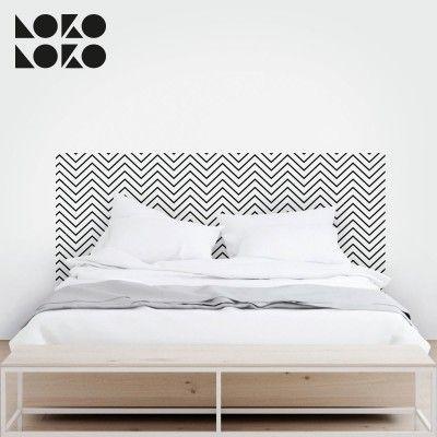 Vinilo para decorar dormitorios de matrimonio con diseño de patrón ...