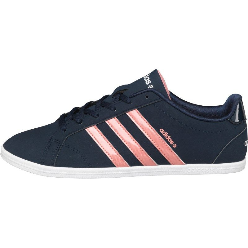 cheaper 94f2d 671d9 adidas Neo Womens Coneo QT VS Trainers NavyPinkWhite