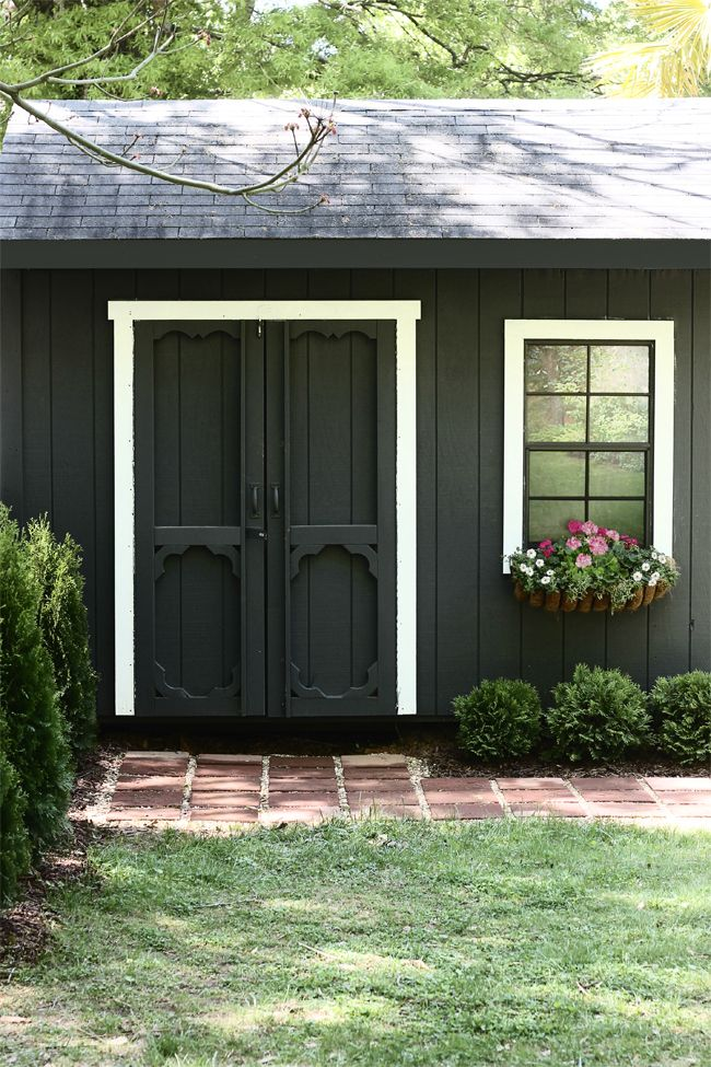 Shed Paint it Black Outdoor Pinterest Interiors, Gardens and