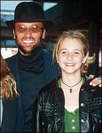 Maurice Gibb with his daughter Samantha