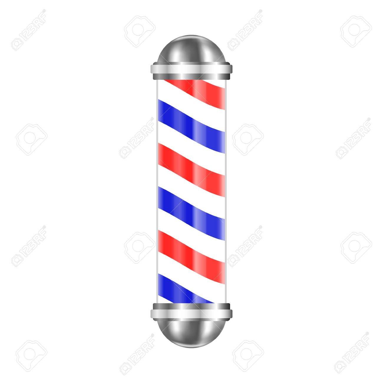 Barbershop Pole Isolated On White Background Vector Illustration Ad Isolated Pole Barbershop White Barber Shop Pole Barber Shop White Background