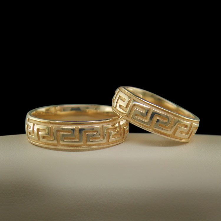 Greek Key Wedding Ring Cross Jewelers