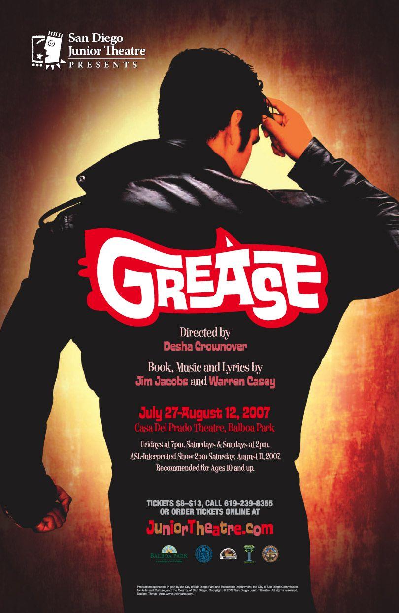 Poster design for San Diego Junior Theatre's 2007