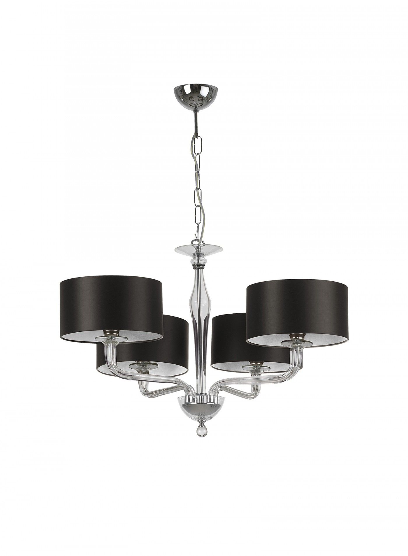Czarina clear 4 arm ceiling light glass crystal ceiling and arms czarina clear 4 arm beautiful glass crystal pendant ceiling light available with clear smoke or gold coloured glass and chrome metalwork aloadofball Gallery