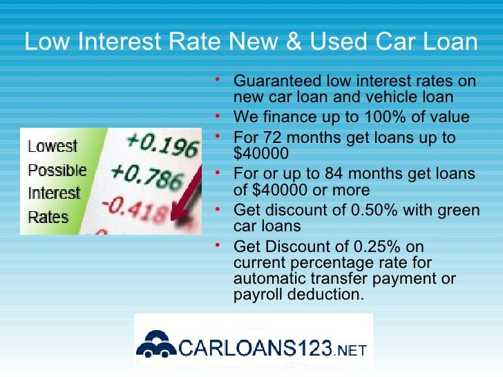 What Are The Standard Interest Rates For Used Vehicles