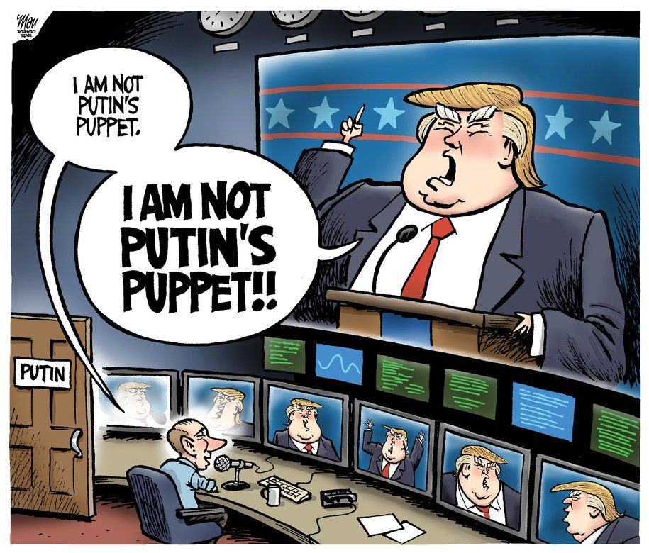 Image result for trump putin's puppet cartoons