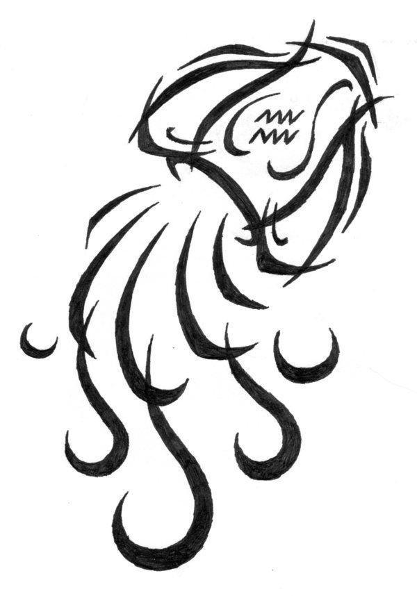 aquarius tribal tattoo sybil