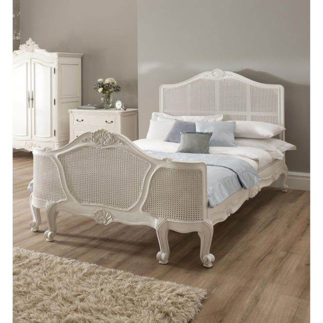 La Rochelle Rattan Antique French Style Bed  Homesdirect365 Cool French Bedroom Set Decorating Inspiration