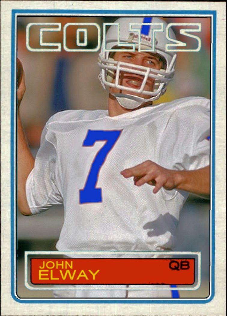 John Elway Baseball Card 1983 Topps John Elway John Elway 1