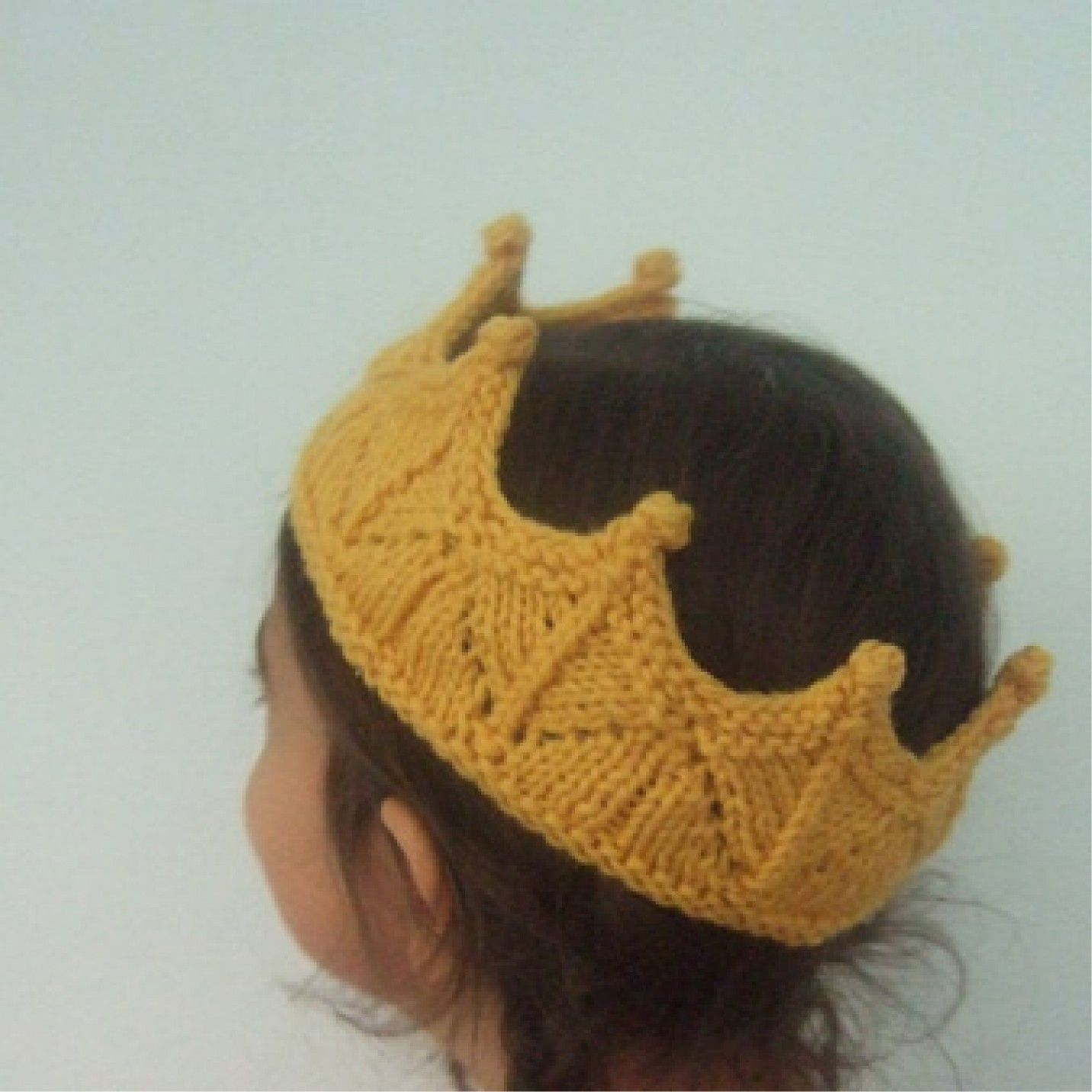 Lace Knit Crown Headband for Dress Up and Pretend Play in Golden ...