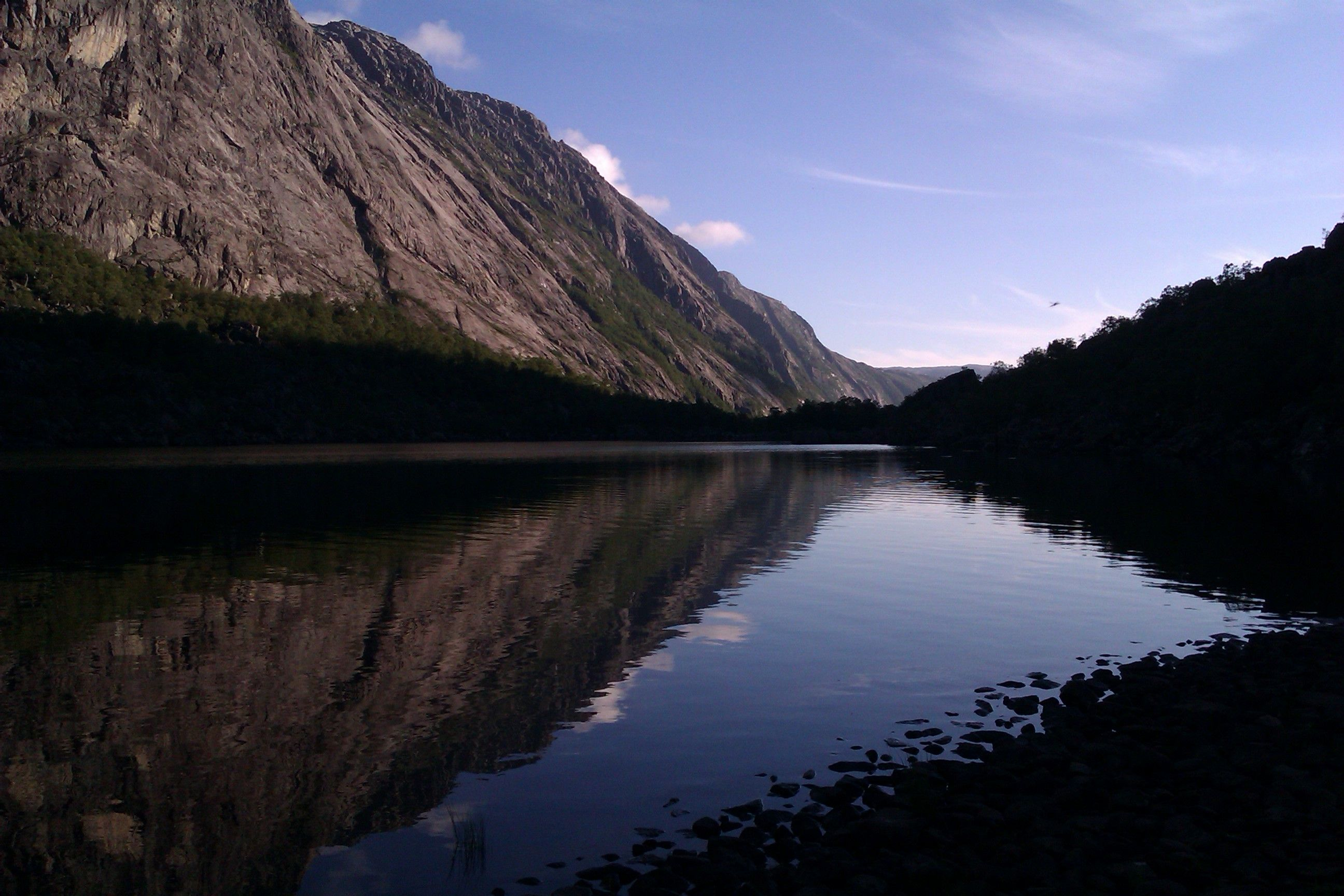 Spectacular view in the norwegian outdoors