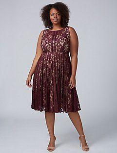 f523e5bcd2f Pleated Lace Dress