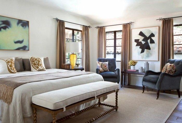 gardinen schlafzimmer brauntöne sind eine dezente lösung für den - gardine f r schlafzimmer