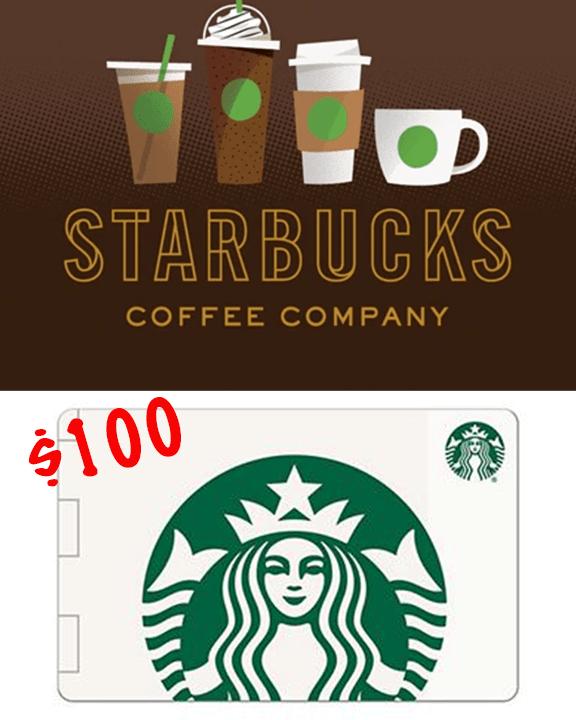 100 Starbucks Gift Card Giveaway Starbucks Gift Card Starbucks Gift Walmart Gift Cards