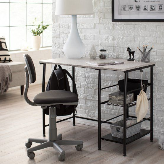 Study Zone II Desk & Chair - Black/Gray