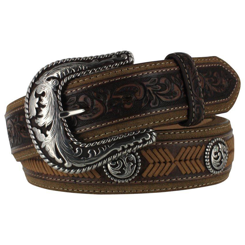 Lubbock Lace Western Leather Belt