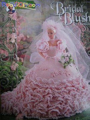 vestido de boneca em crochê | Vestido de boneca. | Pinterest