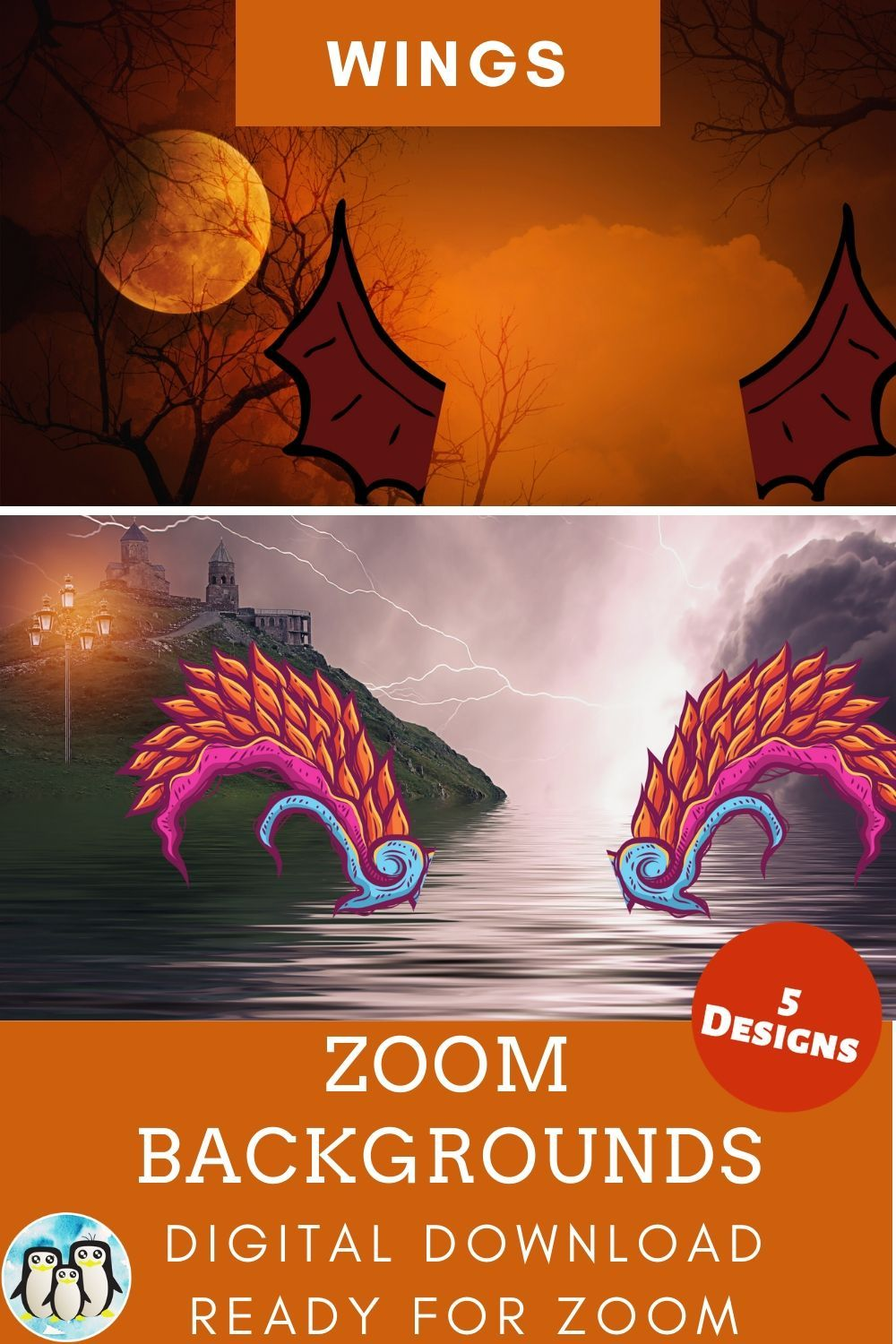 Zoom Virtual Background Bundle Of 5 Wings Inspired Designs Zoom Background Virtual Background Video Conference Backgrounds Cute Gifts For Friends Background Virtual