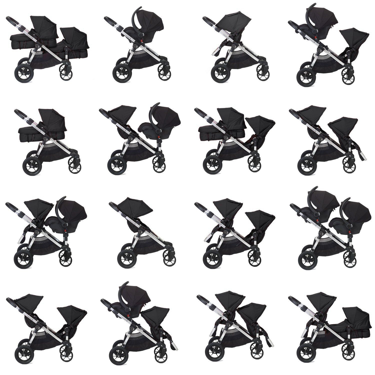 Amazon Com Baby Jogger City Select Stroller In Amethyst Tandem Strollers Baby Baby Jogger City Select City Select Double Stroller Double Strollers