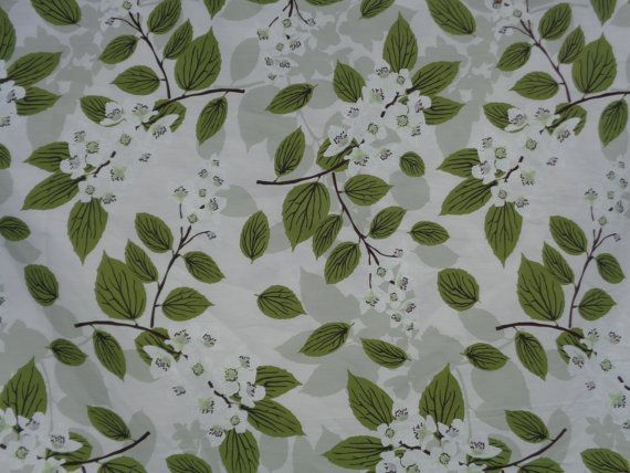Cotton Tablecloth with Blossom Print SELMA Square / by MilaStyle