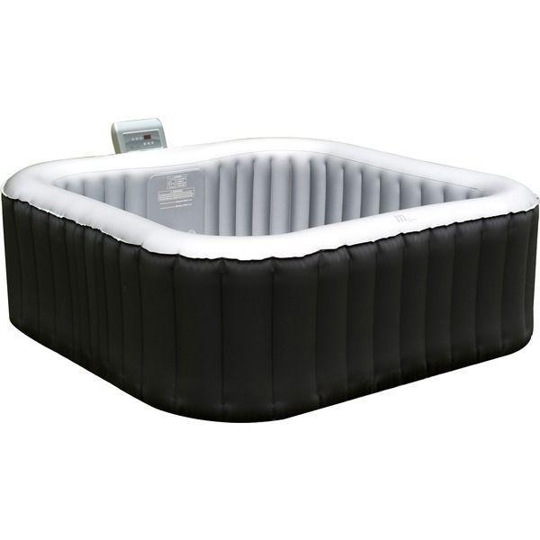 MSPA Alpine Luxury Inflatable Heated Outdoor/Indoor Square Jacuzzi Hot Tub Spa