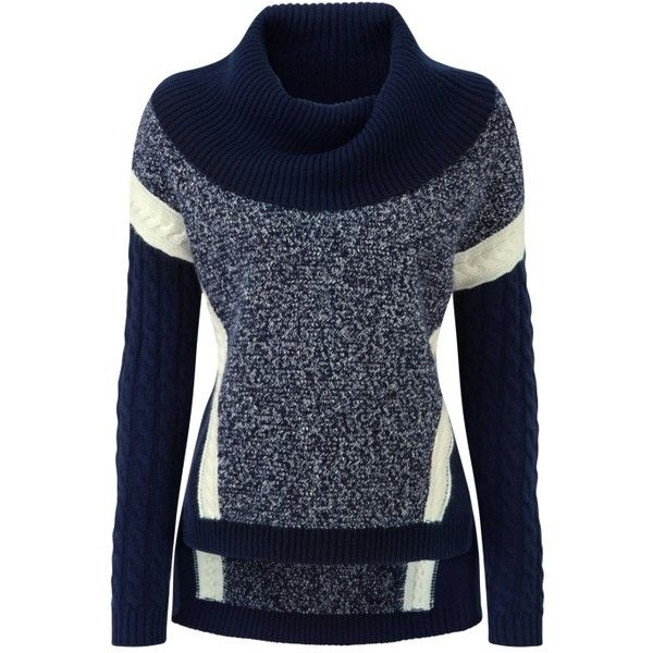 Luxury Cashmere Cowl Neck Sweater ($488) ❤ liked on Polyvore ...