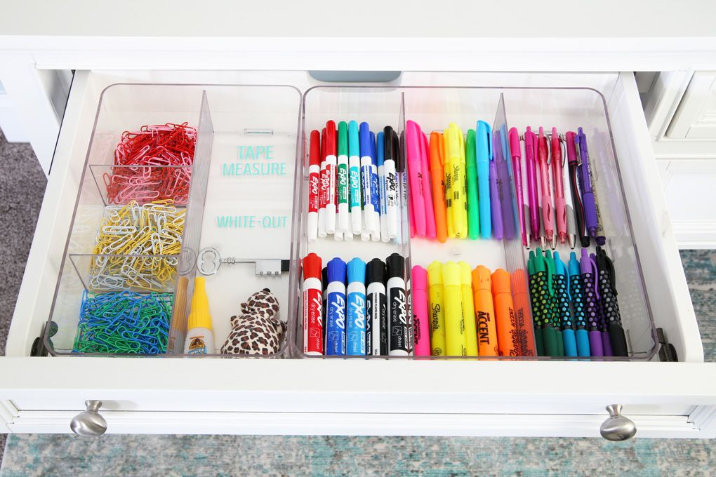 How To Organize Every Drawer In Your House Office Organization At Work Creative Office Supplies Stationery Organization