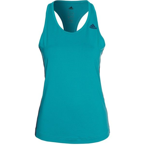 Adidas Sport Performance Basic 3s Tank (51 AUD) ❤ liked on Polyvore featuring activewear, activewear tops, adidas, logo sportswear, adidas sportswear and adidas activewear