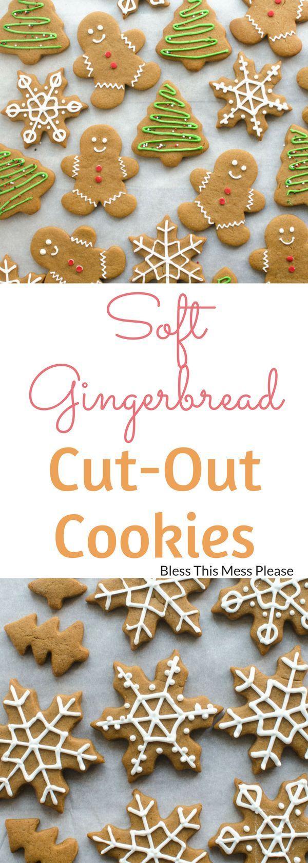 Soft Gingerbread Cookies Recipe Christmas Pinterest Cookies