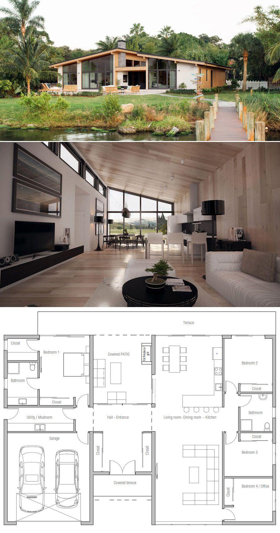 Casa Moderna Planos De Casa Planta De Casa Casas Modulares