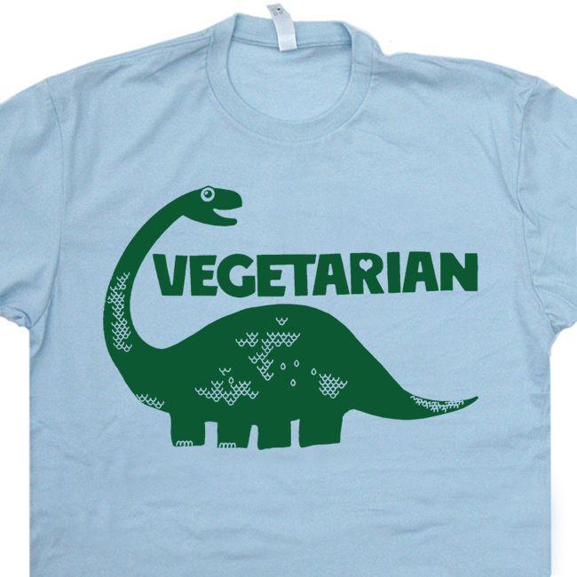 ce88ce244c Vegetarian T Shirts Dinosaur Brontosaurus Shirts Vegan Funny kale Shirts