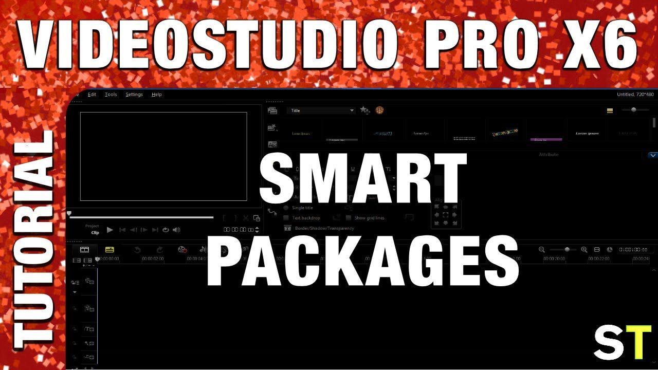 Corel VideoStudio Pro X6 - Smart Package Tutorial