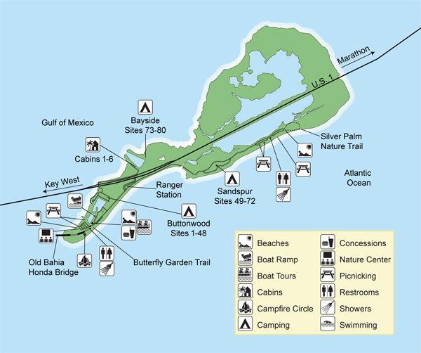Bahia Honda State Park Map 7. Bahia Honda State Park | Big Pine Key Twelve miles south of  Bahia Honda State Park Map
