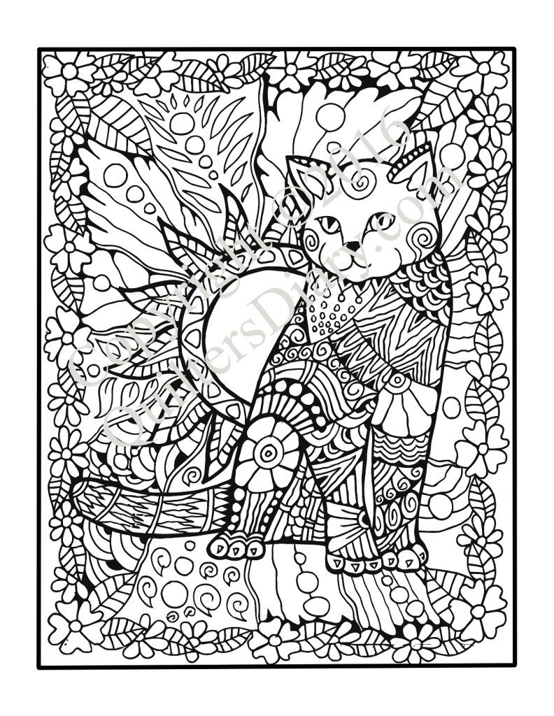 Cats Quilts Coloring Book Adult ColouringCatsDogs