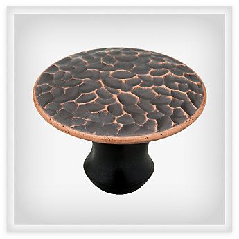 Delicieux Liberty Bronze With Copper Highlights Hammered Sweepy Knob,