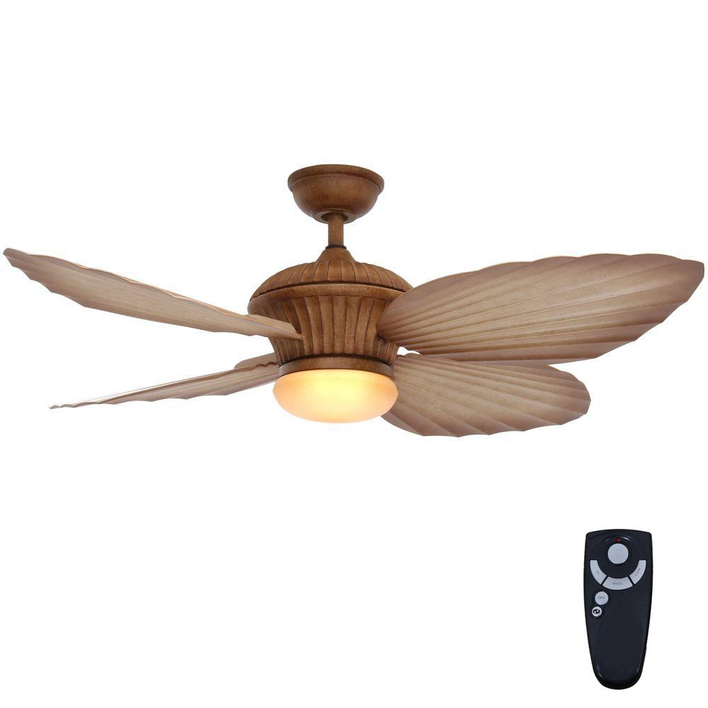 Home Decorators Collection Tropicasa 54 In Bahama Beige Indoor Outdoor Ceiling Fan With Light Kit And Remote Control