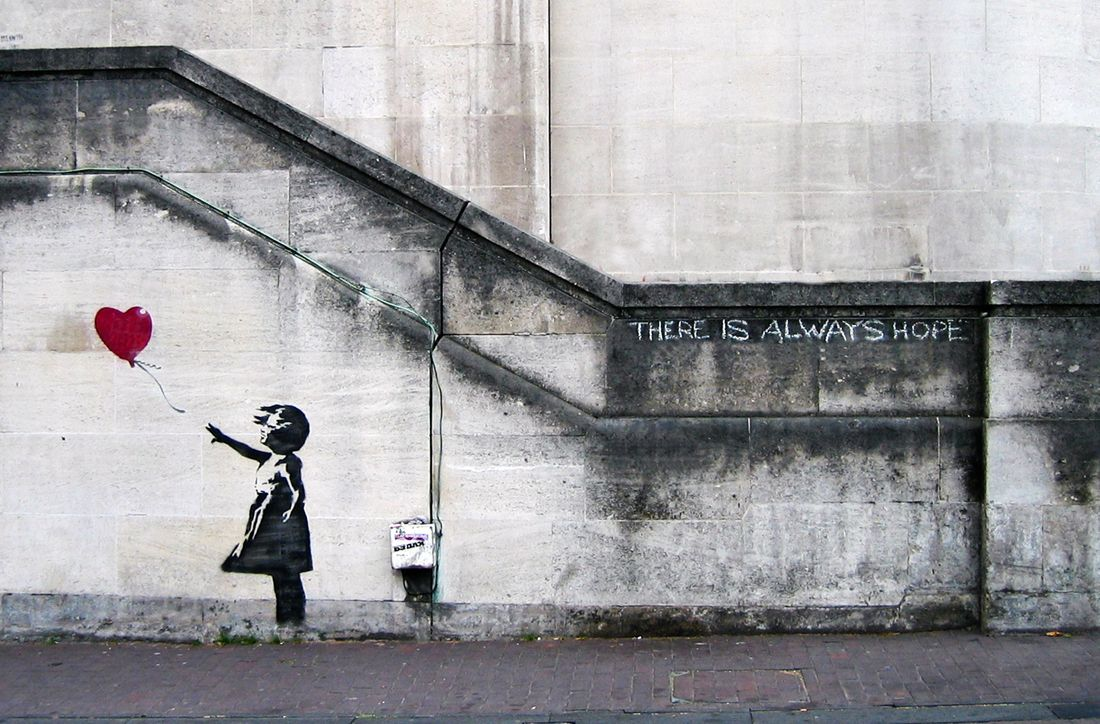 Banksy - Balloon Girl. This was the first Banksy I ever saw and it really sparked my love for street art, and stencils in particular.