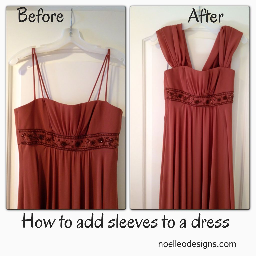 step by step tutorial: how to add sleeves to a strapless dress ...