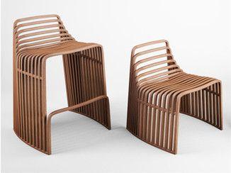Wooden counter stool Counter stool - VIDAME CREATION