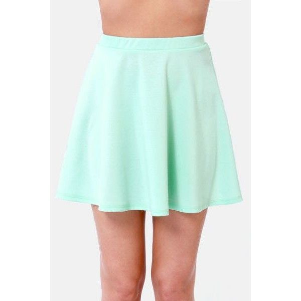 2153179d71 Any Way You Want It Mint Blue Skater Skirt ❤ liked on Polyvore featuring  skirts