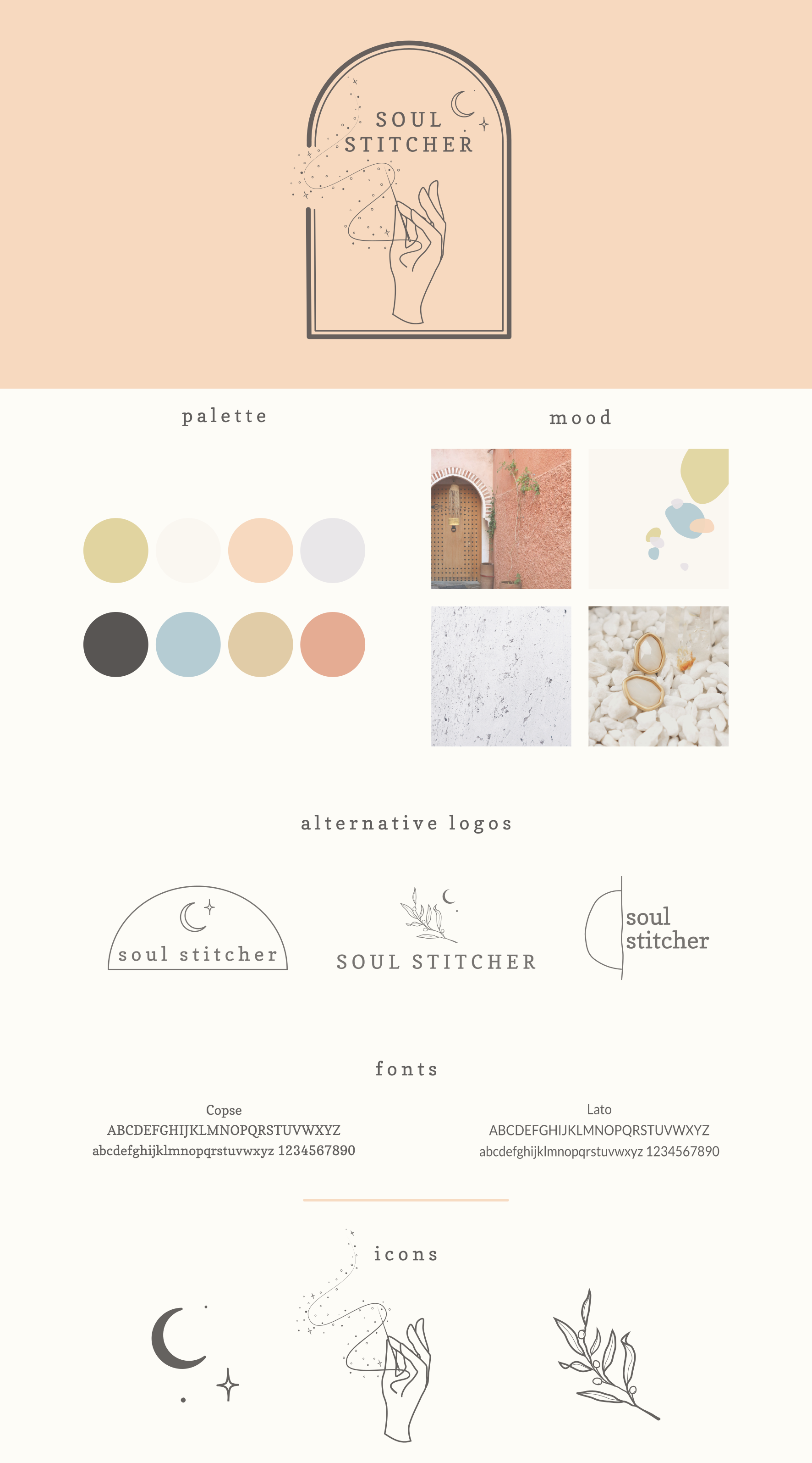 Soul Stitcher Branding Board Branding Design Logo Branding Design Inspiration Graphic Design Branding