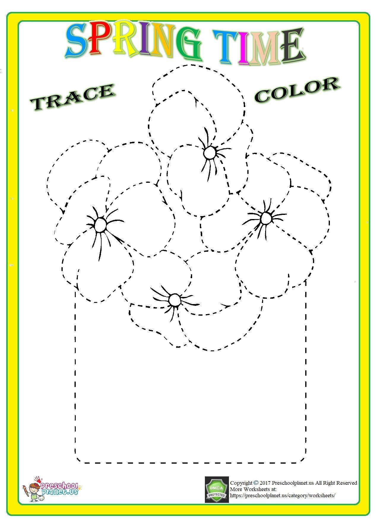 Flower Trace Worksheet