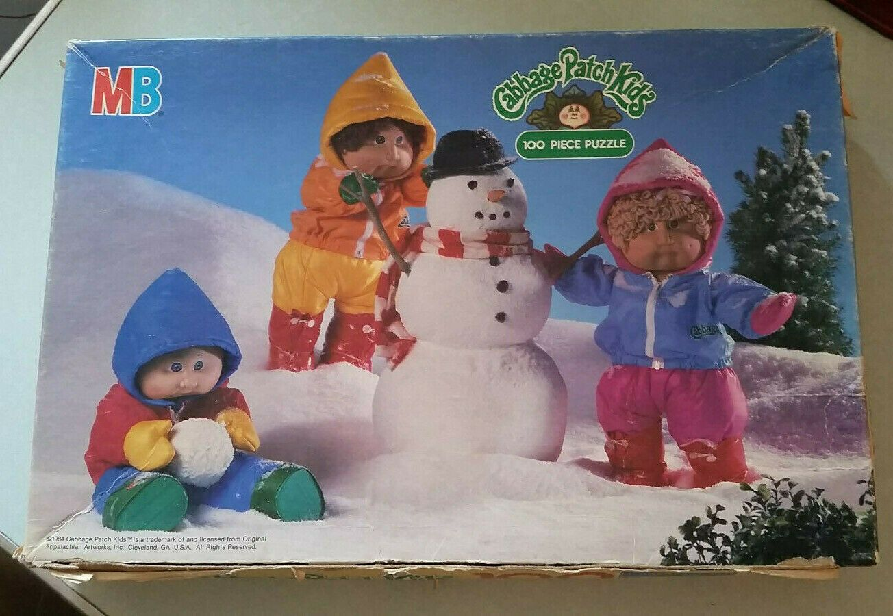 Cabbage Patch Puzzle Did This One So Many Times Cabbage Patch Kids Patch Kids 100 Piece Puzzles