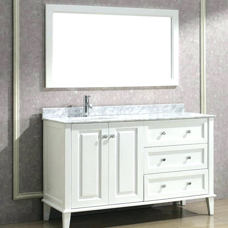 Bathroom Vanity With Sink On Right Side With Images White