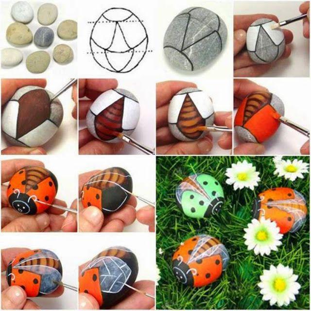 Hand Made - Kreativní tvorba od A - Z: Jak udělat berušky z kamene