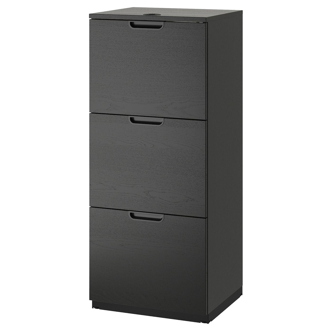 Galant Aktenschrank Schwarz Gebeiztes Eschenfurnier Ikea Osterreich In 2020 Filing Cabinet Plastic File Cabinet Ikea Galant